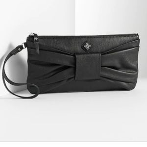 SIMPLY VERA VERA WANG FAUX LEATHER CLUTCH